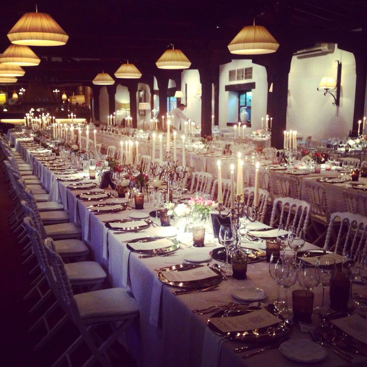 Wedding, Anotherwoman by rose / Boda con mesas italianas