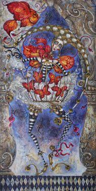 "Artist Elvira Baranova. Painting, ""Spirit of the Inspiration""."