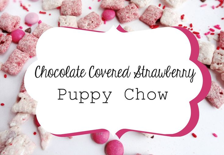 Chocolate Covered Strawberry Puppy Chow Valentine's Day is just around the corner, so what better way to celebrate than a chocolatey dessert? Here is the recipe for a loveably delicious treat: Chocolate covered strawberry puppy chow! Ingredients:  1 ½ cups strawberry cake mix ¼ cup powdered sugar 1 bag pink candy melts 6 cups Chex cer...  Read More at https://www.chelseacrockett.com/wp/food-2/22269/.  Tags: #Dessert, #DessertRecipe, #EasyRecipe, #PuppyChow, #PuppyCho