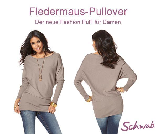 Mit einem Fledermaus Pullover liegt die Trägerin voll im Trend! #FledermausPullover