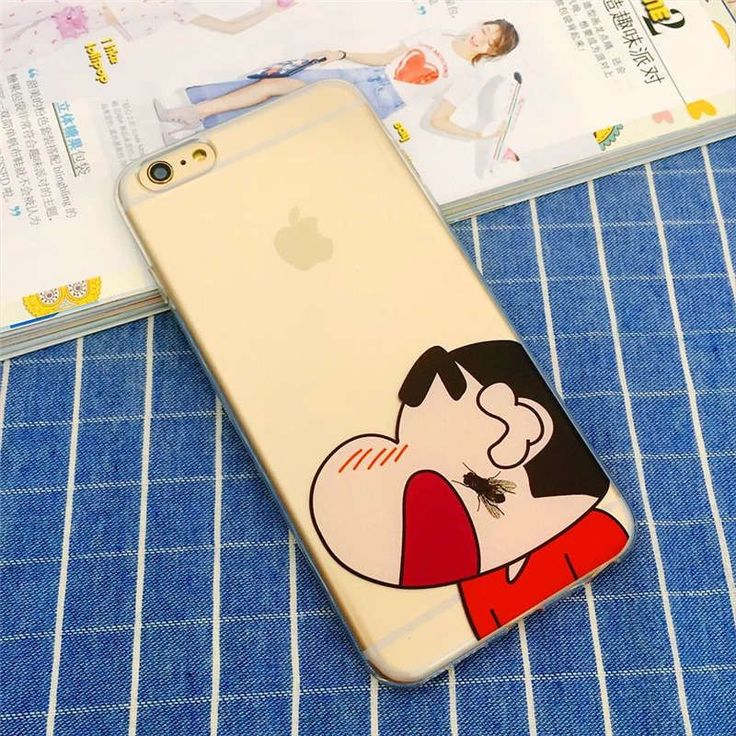 Japan Cute Cartoon Crayon Shin Chan Soft TPU Funda Coque Cover Bag Phone Case For iPhone 5 5s Se 6 6s 6 Plus 7 7Plus Transparent
