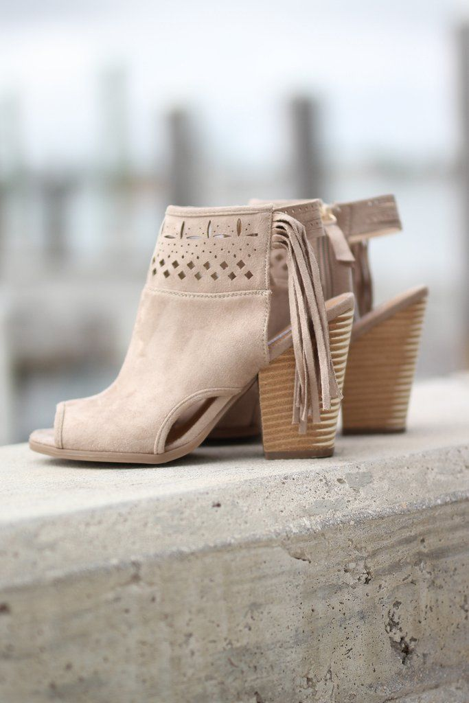 We are loving these Cream Open Toe Fringe Booties so much!! They are simply adorable - the perfect booties for any occasion! The cream color and fringe go with ANYTHING! Pair these adorable booties wi