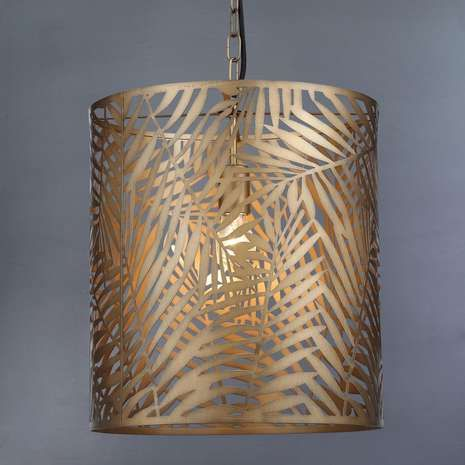 Palm leaf gold effect ceiling light. love the tropical feeling this year!