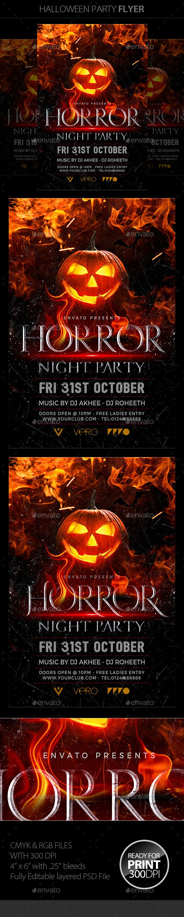 halloween party flyer template psd - Halloween Music For Parties
