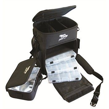 Rebel Sport - Tackle Bag BMA Backpack. Soft bags are great. Use the drawers for lures etc.