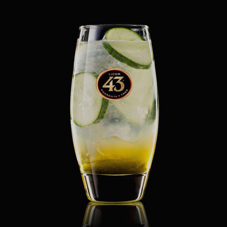 Ontdek het recept van de Green Spring 43. Een bijzonder frisse cocktail, met Licor 43, vers citroensap, tonic en komkommer. Ideaal voor een zonnige lentedag.