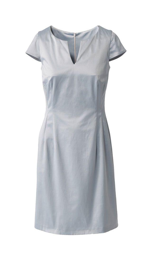 Ausschnitt - Free dress pattern - Schnittmuster: Business-Kleid nähen - eine Anleitung - BRIGITTE