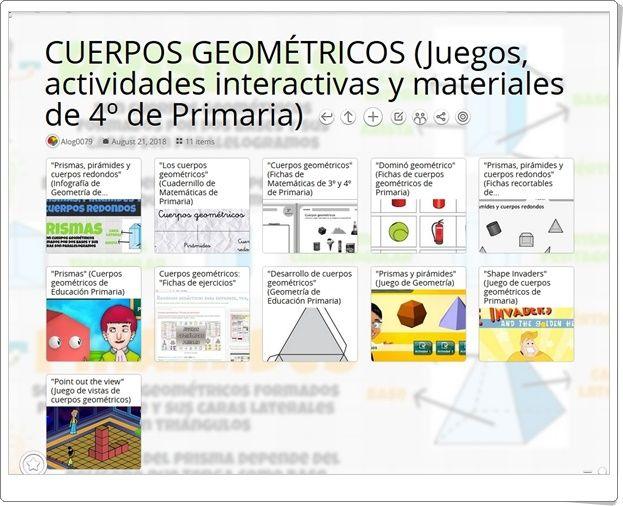 11 Juegos Actividades Interactivas Y Materiales Para El Estudio De Los Cuerpos Geométric Actividades Interactivas Cuerpos Geometricos Actividades Actividades