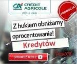 """Przedmiotem nienijszego artykułu będzie promocja kredytu gotówkowego i konsolidacyjnego w Credit Agricole pozwalającaotrzymać 5% spłatyraty. Promocja ta jest prowadzona pod hasłem""""Aktywni z kontem zyskują do 5% spłaty raty"""" iobowiązuje w okresie od 01 kwietnia 2015 do 31 grudnia 2015"""