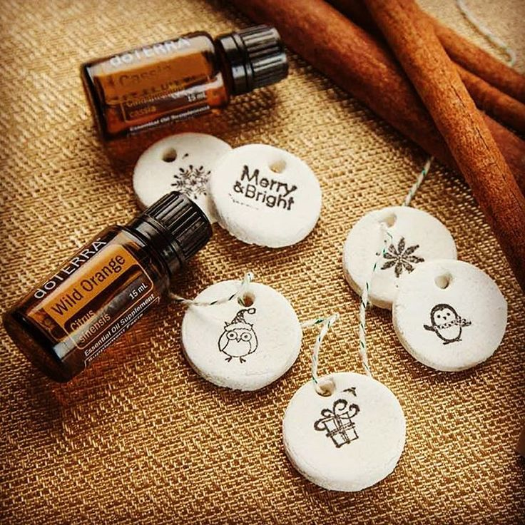 Aromatherapy Salt Dough Ornaments -DIY . Adding a personal touch to your presents has never been easier with these aromatherapy salt dough…
