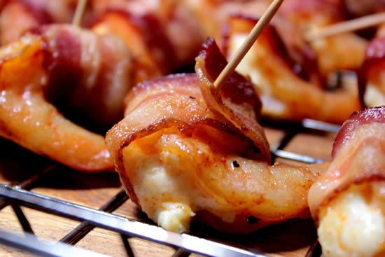 Smoked Shrimp – Stuffed/Bacon Wrapped