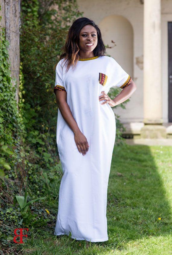 robe longue robe africaine robe ankara robe par MADKollection