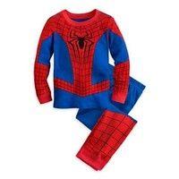 Wish | Baby Kids Boys Superhero Spider-Man Costume Nightwear Sleepwear Pajama Set 0-5Y
