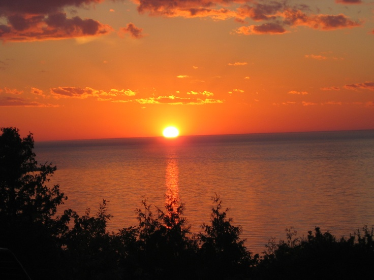 Sunsets (this one just happens to be in Egg Harbor, WI! Perfect!)