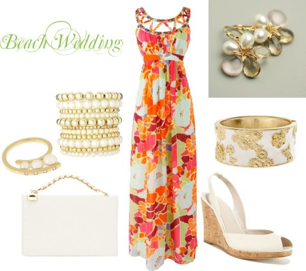 Beach Wedding Guest, created by roxannepatton on Polyvore -- minus the shoes