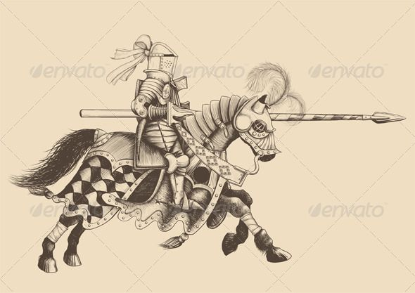 Horseback Knight of the Tournament  #GraphicRiver         Horseback Knight of the tournament with a spear at the ready galloping towards the opponent. engraving. Transparent PNG file, AI and EPS file in archive     Created: 25October13 GraphicsFilesIncluded: TransparentPNG #JPGImage #VectorEPS #AIIllustrator Layered: Yes MinimumAdobeCSVersion: CS Tags: ages #ancient #antique #armor #armory #artwork #attack #background #cantering #cap #carnival #companion #crusader #gothic #horse #horseback…