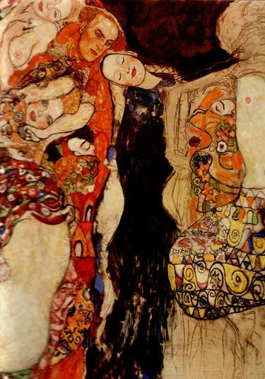 The Three Ages of Women: The Bride (unfinished) by Gustav Klimt, 1917/18 http://www.leninimports.com/gustav_klimt_cards.html