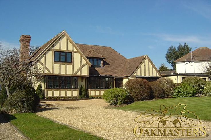 Oak Cladding - Stand out - Oak timber frame. This home achieves the look of a quality oak timber frame with bespoke oak cladding by Oakmasters