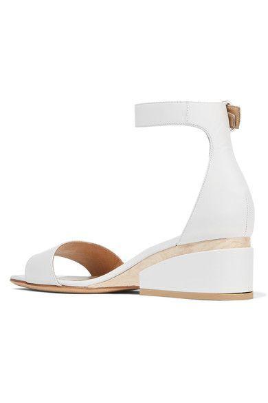 Gabriela Hearst - Sydney Leather Wedge Sandals - Off-white - IT38.5