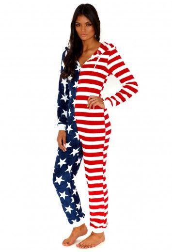 Missguided - Felisity American Flag Onesie
