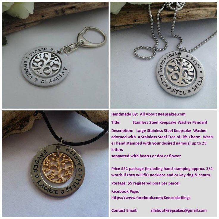 Handmade by All About Keepsakes  Hand stamped 38mm stainless Steel Washer,