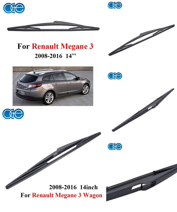 [Visit to Buy] 14'' Rear Wiper Blades For Renault Megane 3 Wagon 2008-2016 Windscreen Windshield Silicone Rubber Car Accessories Wipers #Advertisement