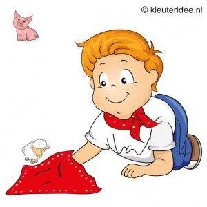 Spel 9: Voel de boerderijdieren, speldag thema boerderij voor kleuters, kleuteridee.nl , farm games for preschool field day.