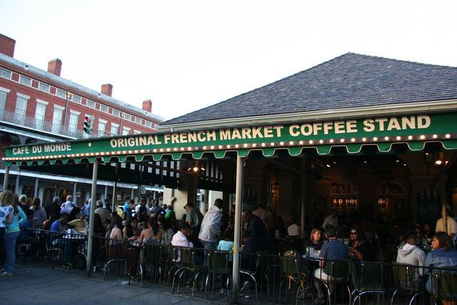 10 Best Breakfasts in New Orleans' French Quarter: Cafe du Monde has been a French Market staple since the Civil War era.