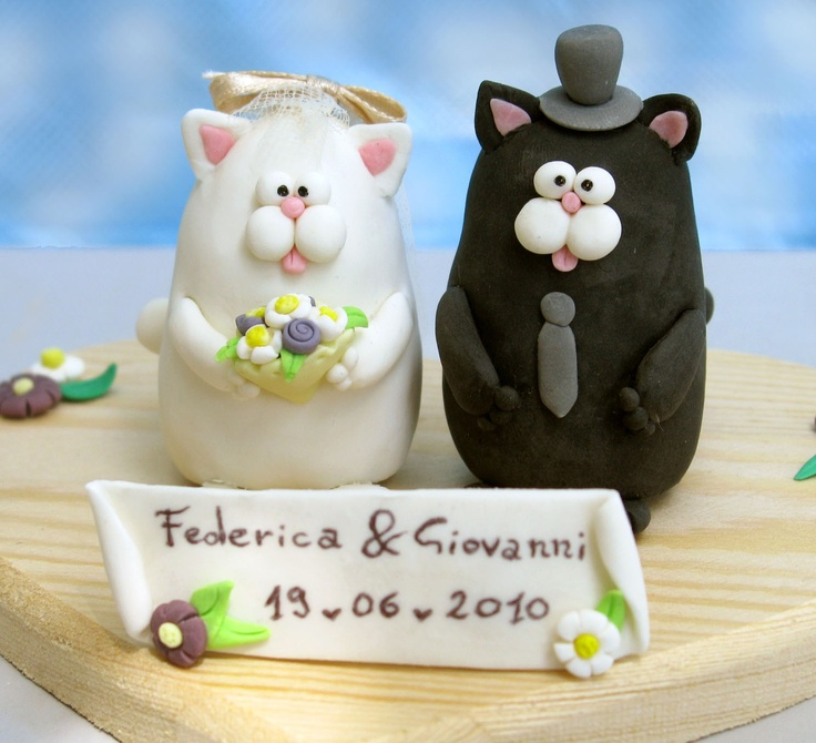 Cats Wedding Cake Topper