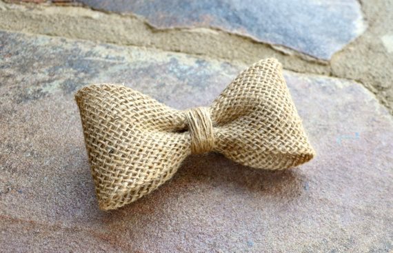 Natural burlap bow tie for kids Bow tie is made out of regular burlap fabric. Strap is made out of cotton fabric in a taupe color or the closest color available. Please visit our shop for more burlap items: