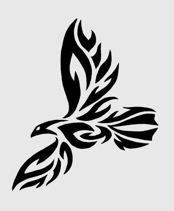 Tribal Raven Tattoo by twistedCaliber.deviantart.com on @deviantART