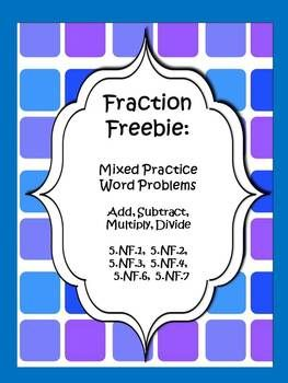 Challenge students with these fraction problems that cover all four operations.  Instead of knowing ahead of time that they will be adding or subtracting, multiplying or dividing, students must use their best critical thinking to decide what the problem is asking before solving.