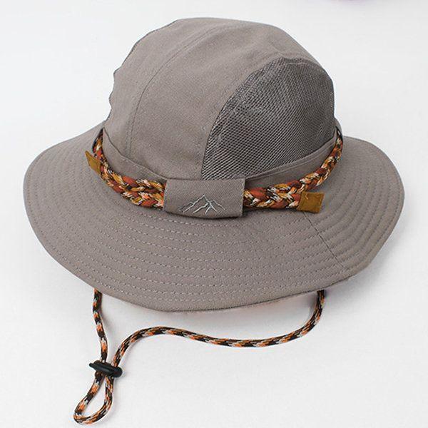 Women Mens Foldable Mesh Breathable Bucket Hat Outdoor Travel Climbing Sunscreen Fishing Hat