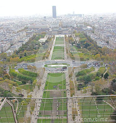 Beautiful view of paris from the top of eiffel tower