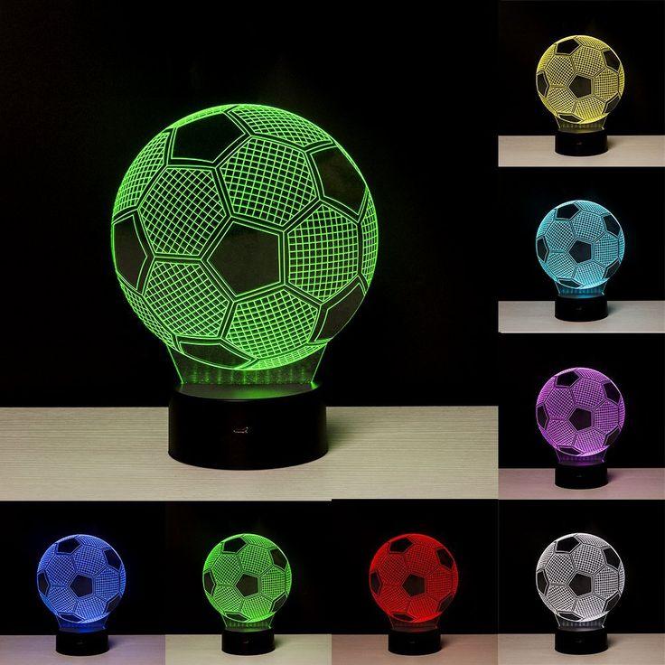 Fussball Lampe Linkax 3d Led Licht Nachtlicht Optische Tauschung Lampe Schreibtischlampe Tischlampe Nachtlicht 7 Fa Schreibtischlampe Nachtleuchte Nachtlampen