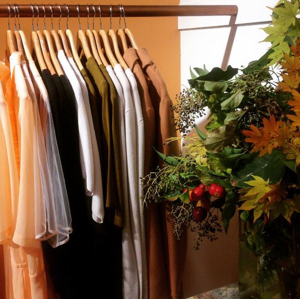 Ingrid Starnes, autumn hues in store.