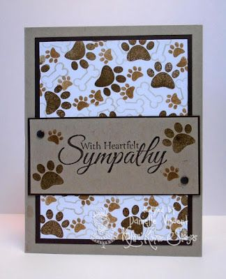 Totally Paw-some and Sincere Sympathy stamp sets - card by Danielle Vincent