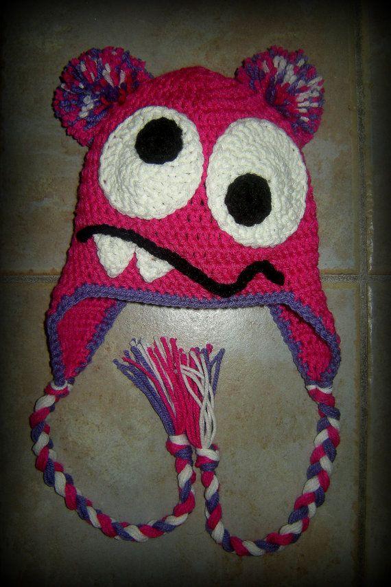 Meisje Monster hoed gehaakte mutsen meisje door LoopsyDaisyDesign