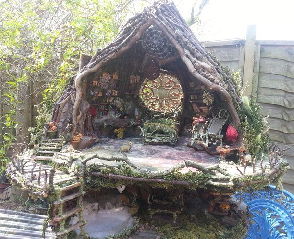 Fairy House A 1 12 Scale Fairy Tree House Made Of Natural