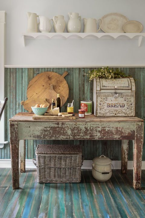 Breadbox:  Even if it now holds silverware instead of baked goods, this old breadbox completes the rustic farmhouse look.