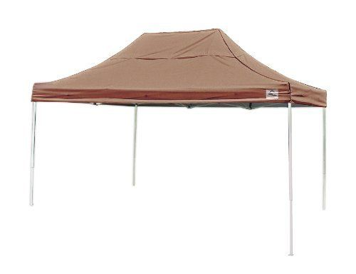 ShelterLogic Pro Series Truss Pro Pop-Up Canopy, Desert Bronze, 10 x 15-Feet by Shelter Logic. $308.46. Sturdy, high grade, beam welded tubular steel frame design with high performance synthetic joint components is bonded with Dupont thermoset baked on powder coat. Prevents chipping, peeling, rust and corrosion.. Great for vendor tents, tennis courts, decks, patios, pool or beach backyard events, tailgating or craft fairs. Wheeled storage bag allows for convenient transport and s...