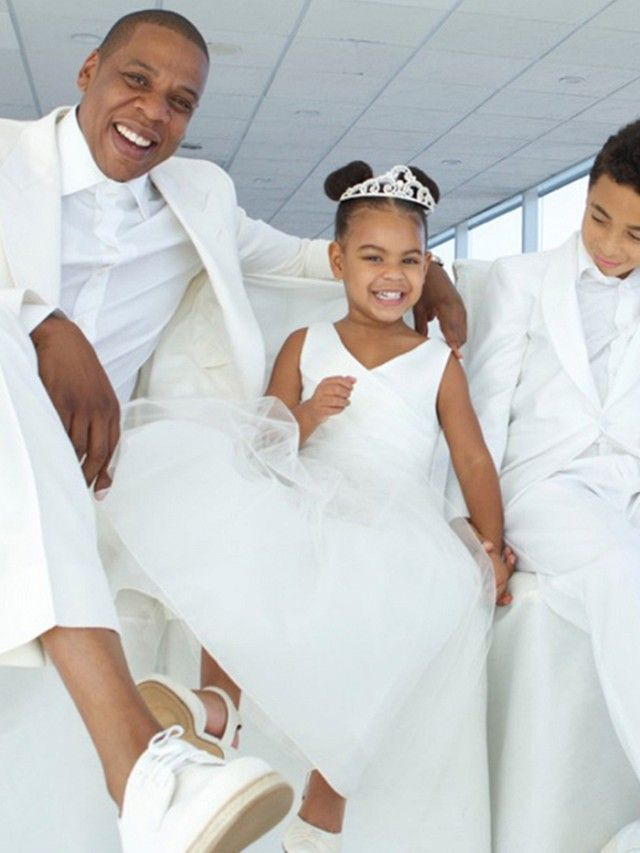The Most Adorable Pictures of Blue Ivy From Tina Knowles' Wedding via @WhoWhatWear