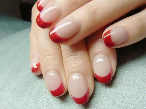 Red french mani