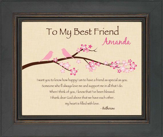 Best Friend Gift Personalized Print For By