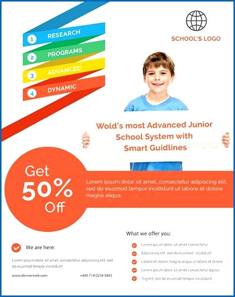 20 Professional Educational Psd School Flyer Templates Educational