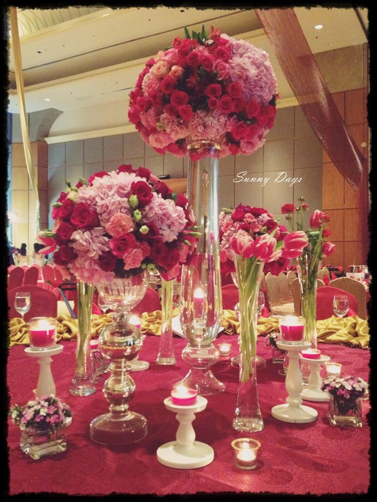 Best tall table centerpieces images on pinterest
