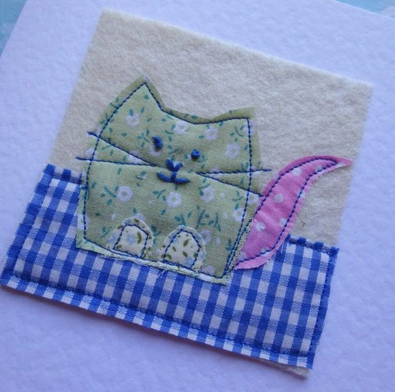 cat birthday card cat thank-you card cat get by PolkaDotCraftsUK