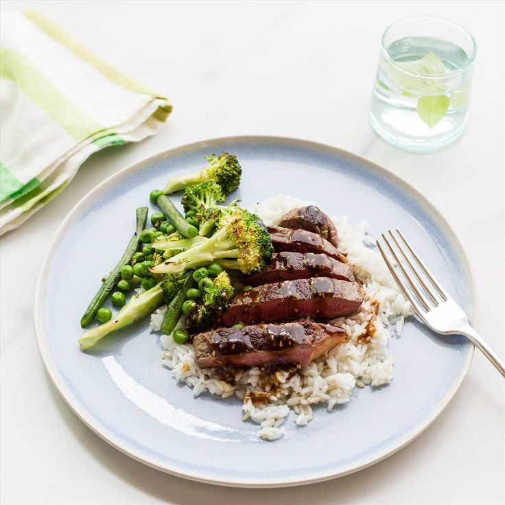 Teriyaki Beef with Broccoli Stir-Fry and Jasmine Rice