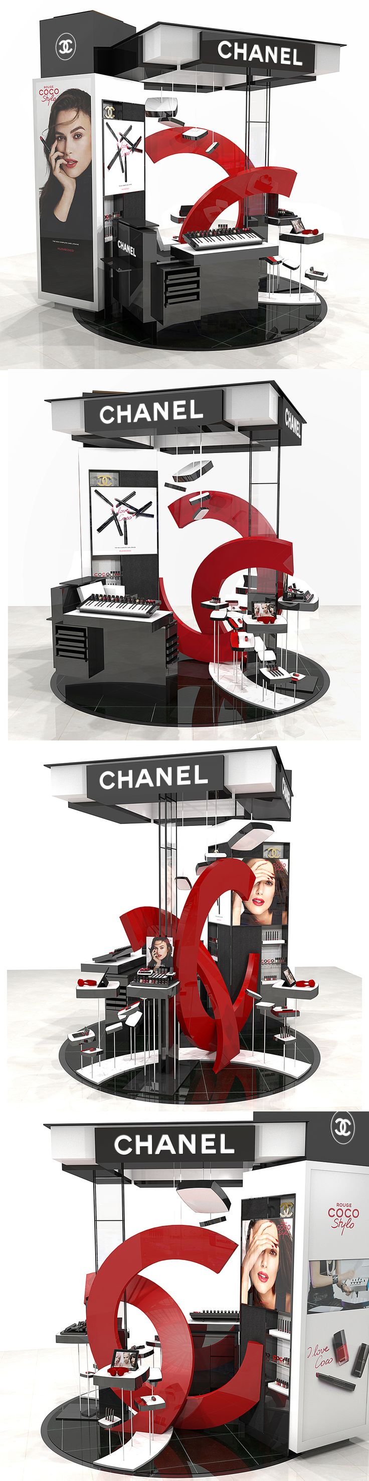 Animation for Rouge Coco Stylo de CHANEL. Design Studio HOMEWeRK in collaboration with CHANEL artistic direction.