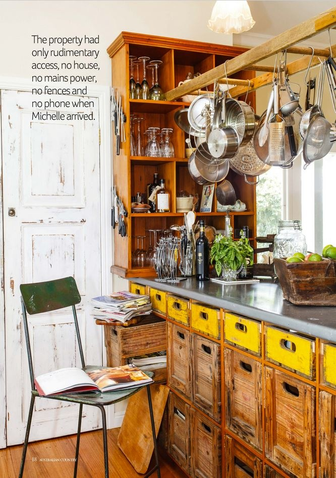 from Australian Country Magazine -  unique kitchen bench